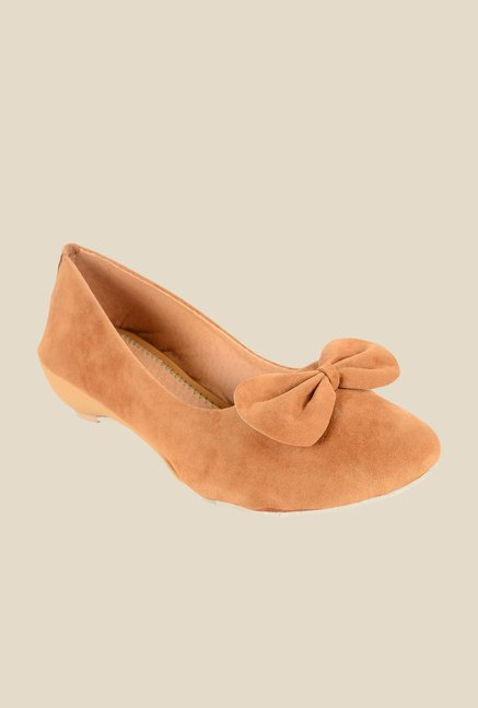 Ethnoware Beige Wedge Heeled Pumps