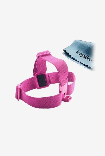 MegaGear Adjustable Head/Helmet Strap Mount Belt (Hot Pink)