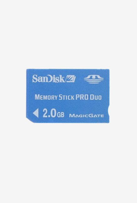 SanDisk Flash 2 GB Pro Duo Flash Memory Card (Blue)
