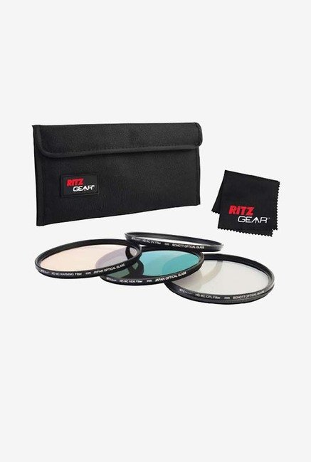Ritz Gear 67mm Premium HD MC Super Slim Lens Filter (Black)