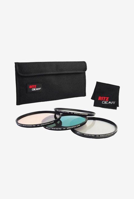 Ritz Gear 72mm Premium HD MC Super Slim Lens Filter (Black)