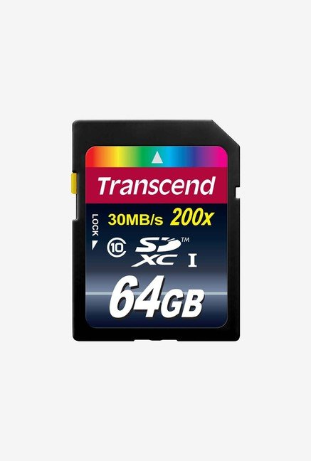 Transcend 64GB SDXC Class 10 Flash Memory Card