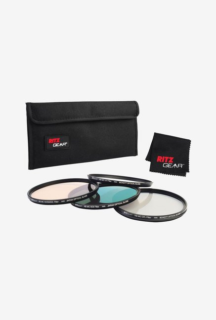 Ritz Gear 77mm Premium HD MC Super Slim Lens Filter (Black)