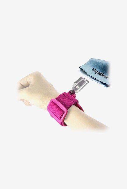 MegaGear Band Wrist Strap and Mount for Gopro (Hot Pink)