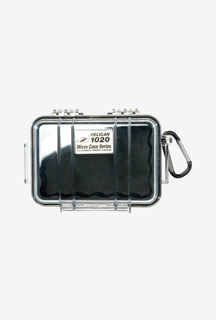 Pelican 1020 Micro Case with Clear Lid and Carabiner (Black)