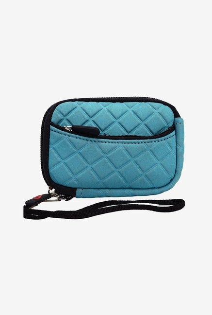 Kroo Quilted Neoprene Pouch for 3.5-Inch Camera (Blue)