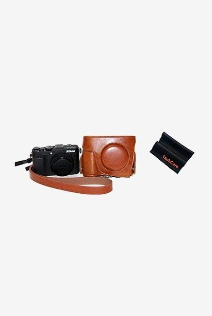 TechCare Protective Leather Case Bag for Nikon (Brown)