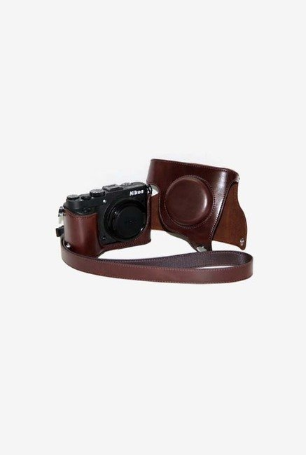 TechCare Protective Leather Case Bag for Nikon (Dark Brown)