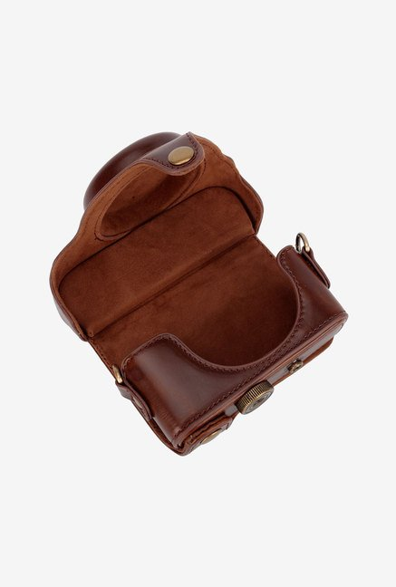 TechCare Protective Leather Case Bag for Sony (Dark Brown)