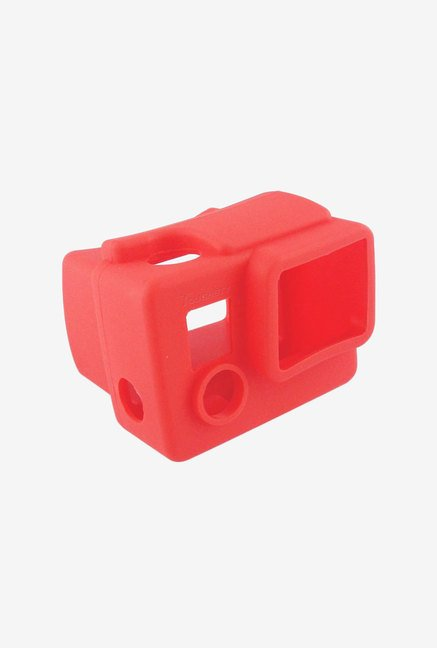 Toughsty Silicone Rubber Camera Housing Case Cover (Red)