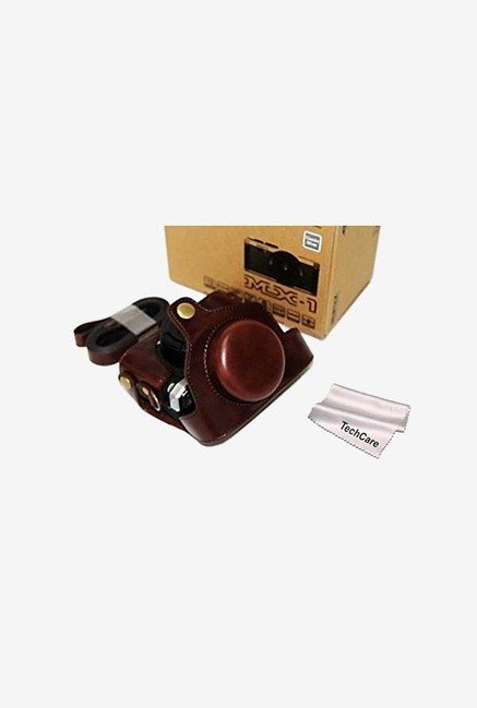 "TechCare ""Ever Ready"" Camera Case for Pentax (Brown)"