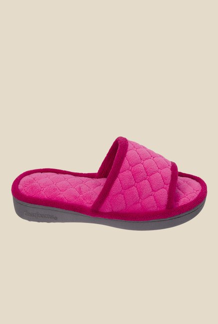 Dearfoams Pink Casual Sandals
