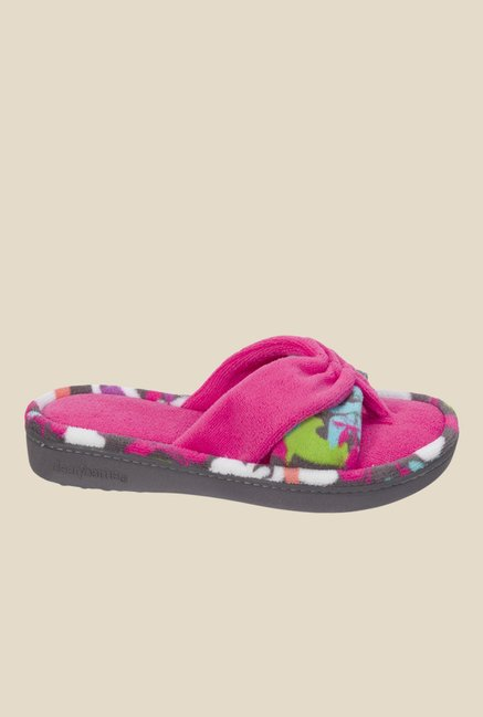 Dearfoams Two-Piece Pink Thong Sandals