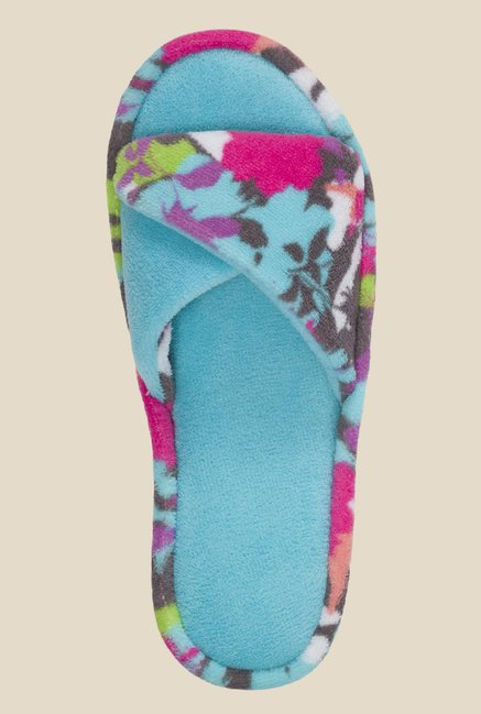 Dearfoams Twist Turquoise & Pink Casual Sandals