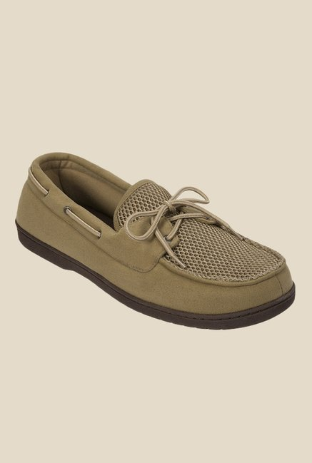 Dearfoams Khaki Boat Shoes
