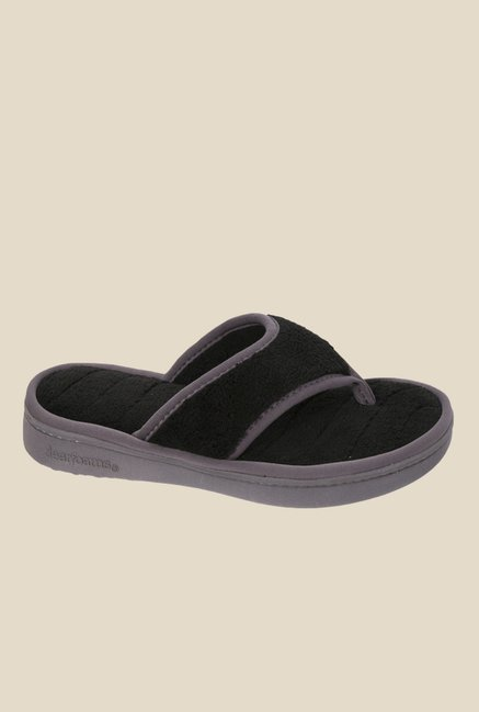 Dearfoams Black Thong Sandals