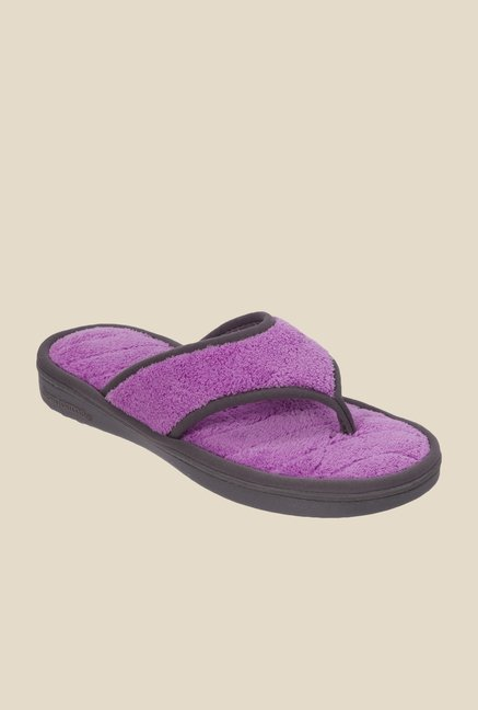 Dearfoams Purple Thong Sandals
