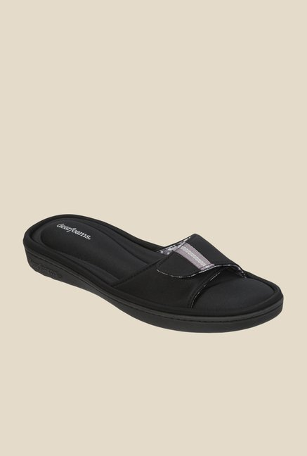 Dearfoams Active Black Casual Sandals