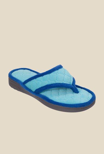 Dearfoams Turquoise Thong Sandals