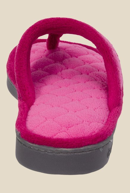 Dearfoams Pink Thong Sandals