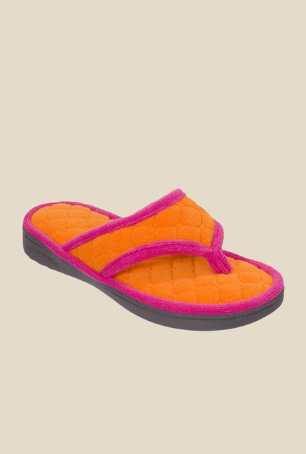Dearfoams Orange Thong Sandals