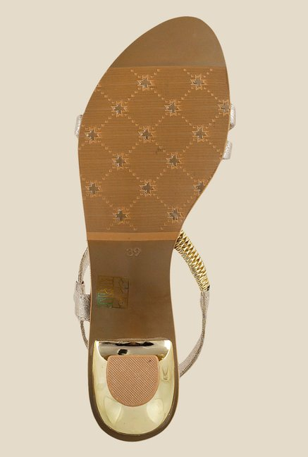 Metro Golden Sling Back Sandals