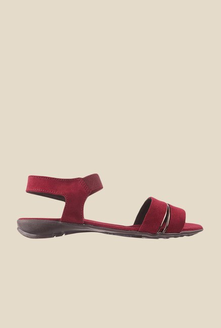 Metro Maroon Sling Back Sandals