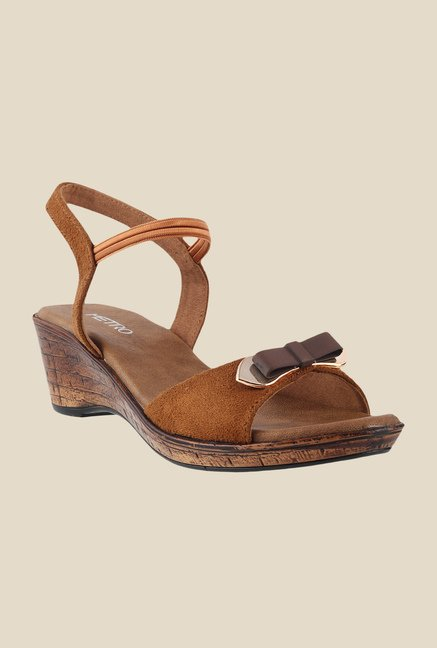 Metro Tan Sling Back Wedges