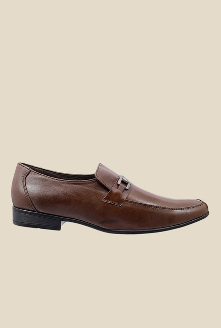 Metro Brown Formal Moccasins