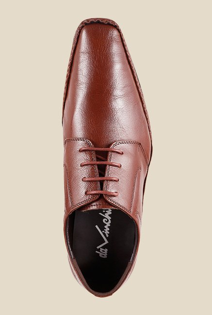 Da Vinchi by Metro Tan Derby Shoes
