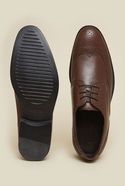 Metro Brown Brogue Shoes
