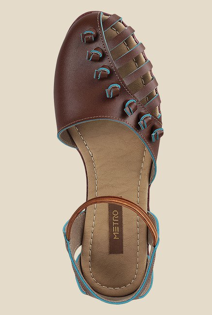 Metro Brown & Tan Casual Sandals