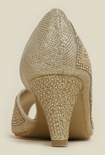 Mochi Gold D'orsay Shoes