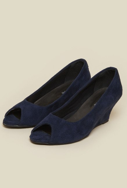 Mochi Blue Formal Wedges