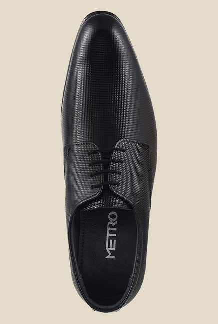 Metro Black Derby Shoes