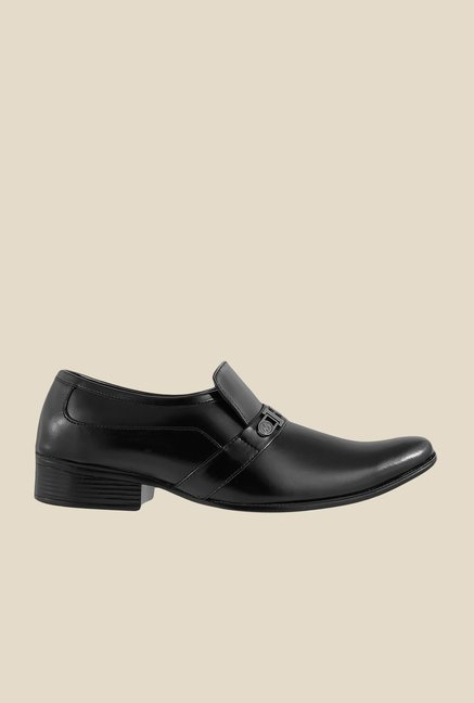 Metro Black Formal Slip-Ons