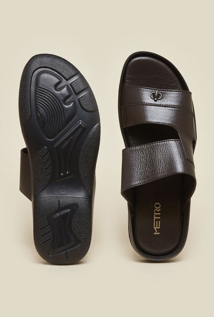 Metro Brown Formal Sandals