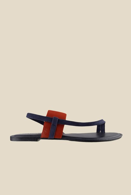 Metro Navy & Red Sling Back Sandals