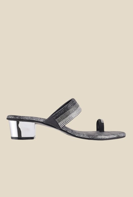 Metro Grey & Silver Toe Ring Sandals