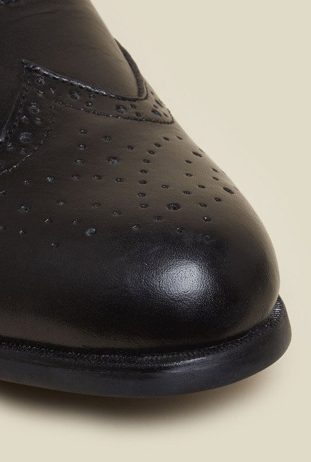 Mochi Black Formal Oxford Shoes