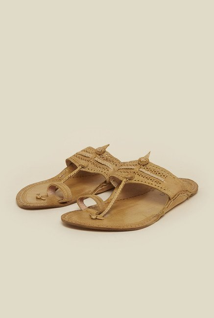 Metro Beige Toe Ring Sandals