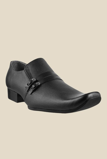 Metro Black Monk Shoes