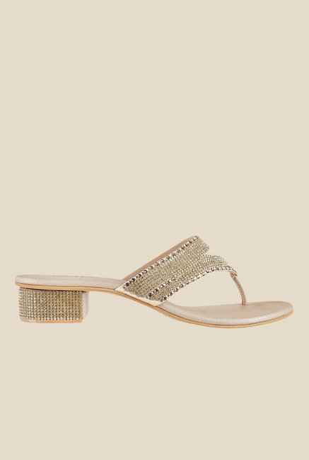 Metro Golden Thong Sandals