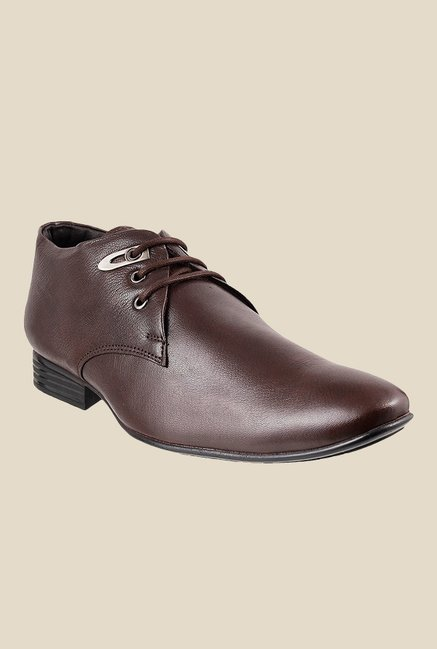 Metro Maroon Derby Shoes