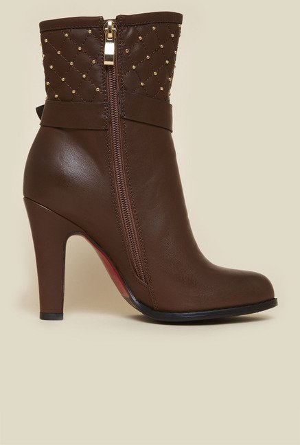 Metro Coffee Stiletto Boots