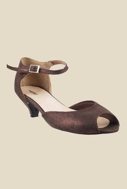 Metro Bronze Ankle Strap Sandals