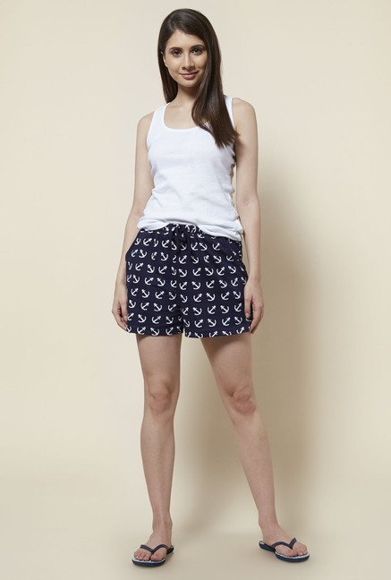 Zudio Navy Comfort Fit Shorts