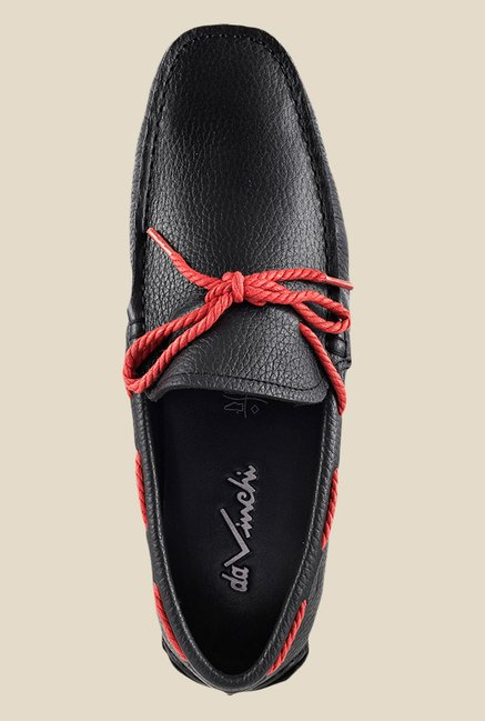 Da Vinchi by Metro Black & Red Boat Shoes