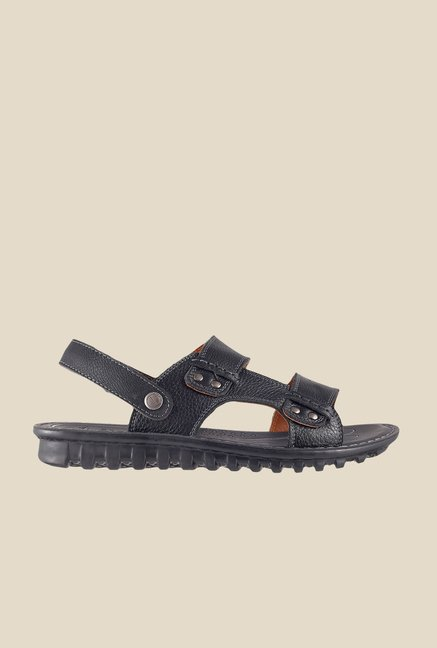 Da Vinchi by Metro Black Back Strap Sandals