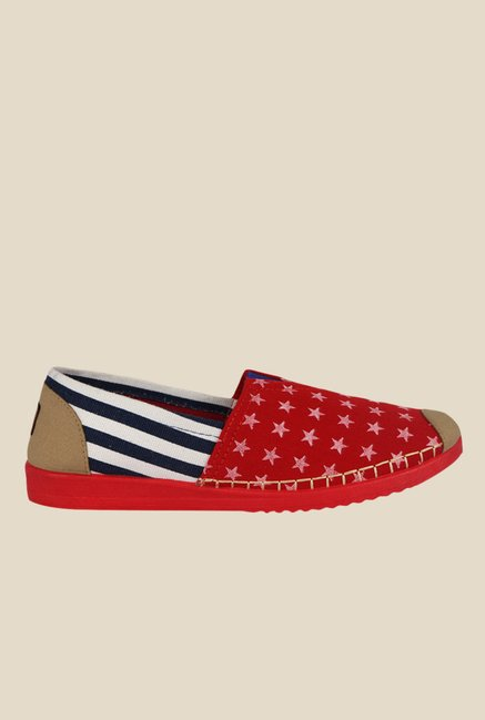Kielz Red & White Espadrilles